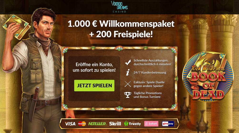 VooDooDreams Casino Bonus Banner