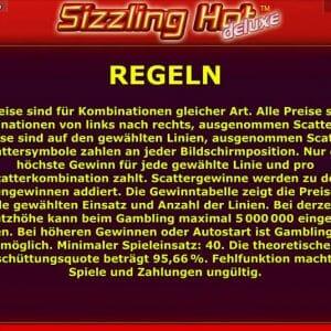 Novoline Sizzling Hot Deluxe Regeln