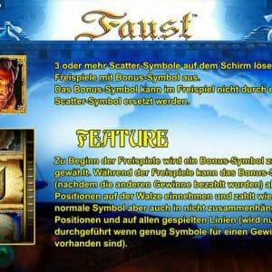 Novoline Faust Feature