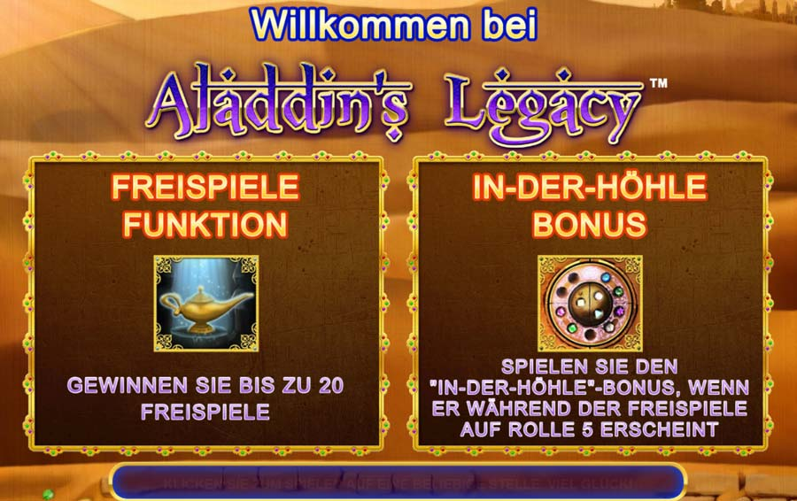 Amaya Alladins Legacy Vorschau Bonus