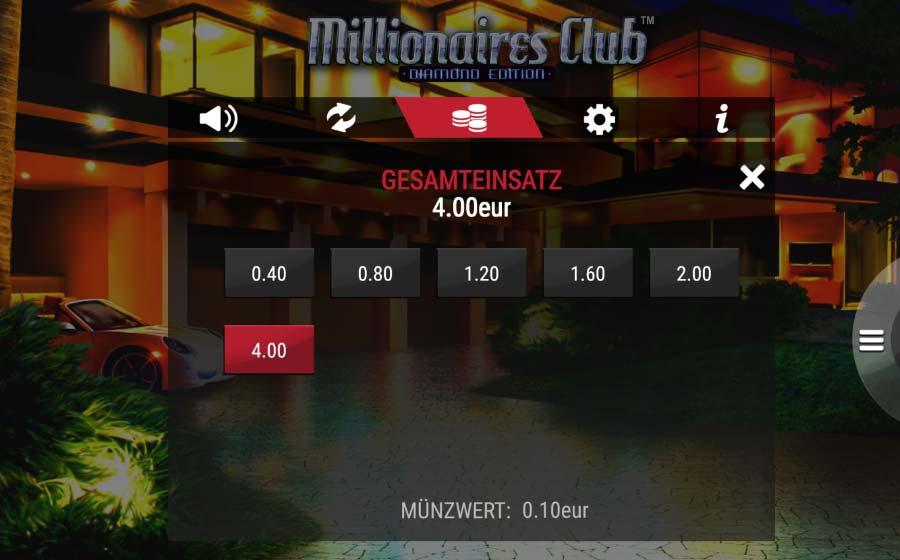 Amaya Millionaires Club Vorschau Einsaetze