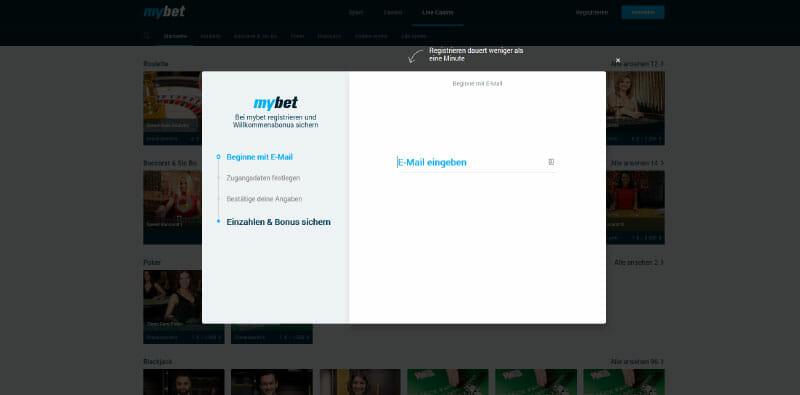 MyBet Vorschau Anmelden