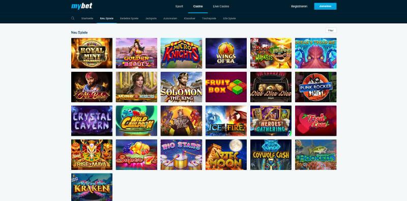 MyBet Vorschau Neue Spiele